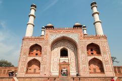 Akbars Tomb in Sikandra, India royalty free stock photos
