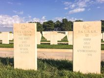 Akbas Martyrs& x27;公墓和纪念品& x28; Turkish& x29; 在1915年,土耳其第19 Division's机动性hos 库存照片