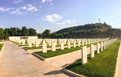 Akbas Martyrs& x27; Kyrkogård och minnesmärke & x28; Turkish& x29; I 1915 de turkiska 19th Division's mobilhosna Arkivbilder