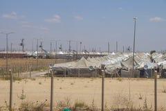 Akcakale-Syrerflüchtlingslager stockbilder
