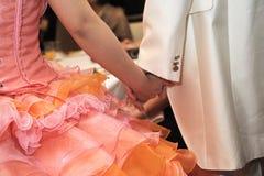 akcentuacyjnego koloru przyjęcia stylu fiołka ślub Zdjęcia Royalty Free