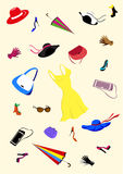 akcesoriów ans ubrań mody ustalone kobiety Obrazy Stock