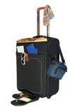 akcesoriów czerń odpoczynku walizki wycieczki Zdjęcie Royalty Free