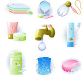 akcesoriów higieny ogłoszenia towarzyskiego set Fotografia Stock