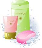 akcesoriów higieny ogłoszenia towarzyskiego set Zdjęcia Stock