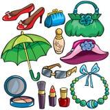 akcesoriów ikony ustalone kobiety royalty ilustracja