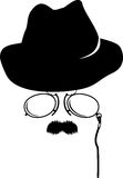 akcesoriów kreskówki detektyw retro Zdjęcia Royalty Free
