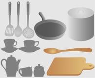 akcesoriów kuchni set Zdjęcie Royalty Free