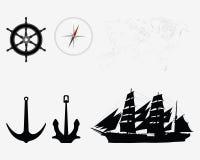 Akcesoria dla seafaring Zdjęcia Royalty Free