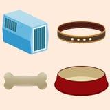 Akcesoria dla zwierząt Puchar, kołnierz, przewoźnika zwierzę, kość Fotografia Stock