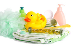 akcesoria kąpać się dziecka Obraz Stock