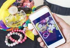 Akcesoria kolorowa kobieta w lecie Obraz Royalty Free