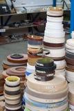 akcesoria meble kawowy drzwiowy groszkuje rękojeści Stubarwne bobiny PVC melanina dla manufaktury meble i krawędź Zdjęcie Royalty Free