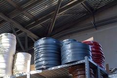 akcesoria meble kawowy drzwiowy groszkuje rękojeści Stubarwne bobiny PVC melanina dla manufaktury meble i krawędź Kłamstwo ostros Zdjęcie Stock