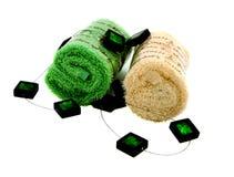 akcesoria ręczniki dwa Zdjęcie Stock