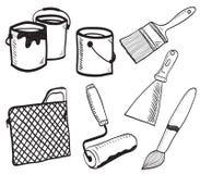 akcesoria rysujący ręki ilustracyjny obraz Obraz Stock