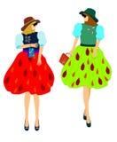 akcesoria target2206_1_ mod różne dziewczyny modelują wiosna lato royalty ilustracja