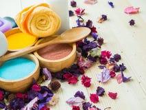 Akcesoria zdrój szorują dla skóry zdrowej Obrazy Royalty Free