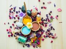 Akcesoria zdrój szorują dla skóry zdrowej Zdjęcie Royalty Free