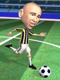akci gracza piłka nożna Zdjęcie Stock