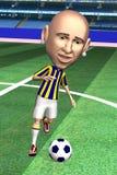 akci gracza piłka nożna Obraz Royalty Free