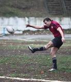 akci graczów rugby Obrazy Royalty Free
