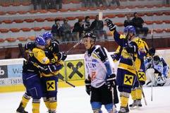 akci gry hokej Zdjęcia Royalty Free