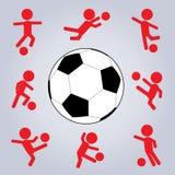 akci ikony ustalona piłka nożna Zdjęcie Stock