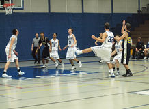 akci koszykówka Zdjęcia Stock