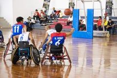 akci koszykówki mężczyzna s wózek inwalidzki Zdjęcie Royalty Free