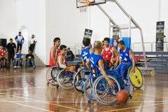 akci koszykówki mężczyzna s wózek inwalidzki Fotografia Stock