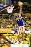 akci koszykówki zamazani globetrotters Harlem Zdjęcia Royalty Free
