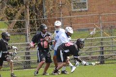 akci lacrosse Obrazy Stock