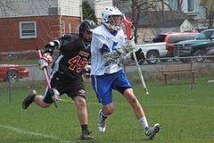 akci lacrosse Zdjęcie Stock