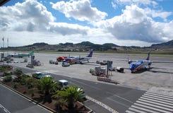 akci lotnisko Tenerife Zdjęcia Royalty Free