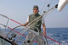 akci regatta żeglowanie Obrazy Royalty Free