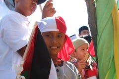 Akci solidarności Aceh barat dla palestin Obraz Stock