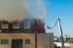 akci strażaka strażaków target681_1_ obraz stock