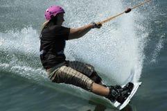 akci wakeboarder Obraz Stock