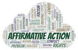Akcja Afirmacyjna - typ dyskryminacja - słowo chmura royalty ilustracja