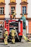 Akcja tydzień Bawarskie jednostki straży pożarnej 2018 obrazy stock