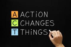 Akcja Zmienia rzecz akronim Obraz Stock