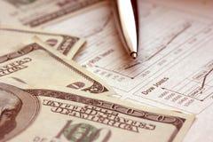 akcje pieniądze Zdjęcia Stock
