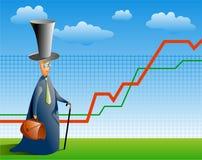 akcje rynku ekspertów ilustracja wektor