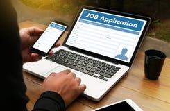 AKCYDENSOWEGO zastosowania wnioskodawca Wypełnia W górę Online zawodu Appl Obraz Royalty Free
