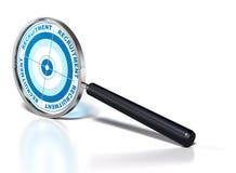 akcydensowy rekrutacyjny poszukiwacz Obraz Stock