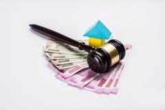 Akcyjna fotografia ind, nieruchomości prawo i Indiański prawo dla, nieruchomości, firmy budowlanej, architektów, budowniczych lub Zdjęcie Royalty Free