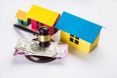 Akcyjna fotografia ind, nieruchomości prawo i Indiański prawo dla, nieruchomości, firmy budowlanej, architektów, budowniczych lub Obraz Royalty Free
