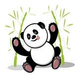 Akcyjna Ilustracyjna Rozochocona Mała panda ilustracji