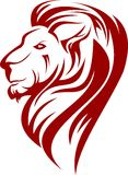Akcyjna loga lwa sylwetka Fotografia Stock